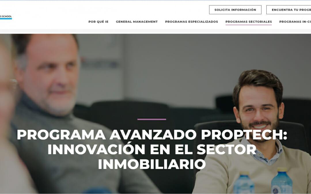 Participamos en el Programa de Innovación y Transformación Digital en el sector inmobiliario (Proptech) de IE Business School