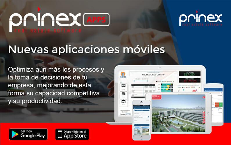 Lanzamiento Prinex APPS: Las nuevas aplicaciones móviles que optimizan los procesos y las tomas de decisiones de las empresas inmobiliarias