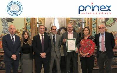 Prinex obtiene la certificación internacional ISO 27001 por su gestión de seguridad de la información